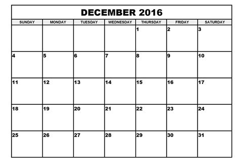 Tomorrow Calendar 2016 December 2016 Calendar Printable Free Loving Printable