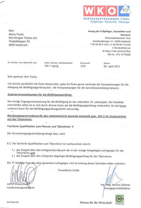 Offizieller Brief Abschluss Rechtliche Grundlagen Kurse Und Ausbildung In Innsbruck
