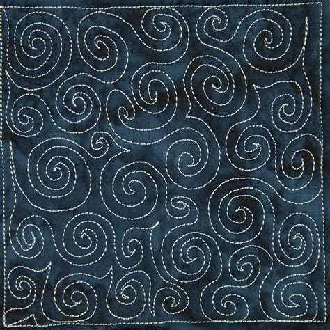 the free motion quilting project day 5 basic spiral