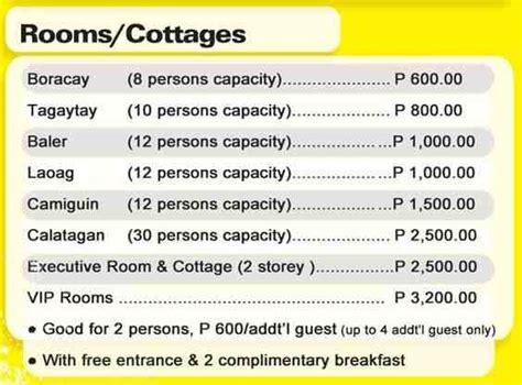 boracay de cavite room rates amana waterpark entrance fee cottage promo contact details