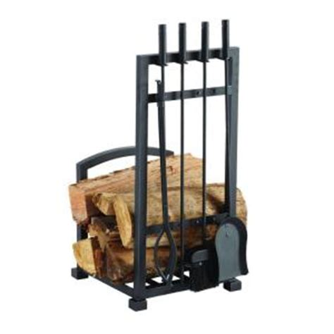 fireplace tool set with log holder pleasant hearth 4 log holder and fireplace