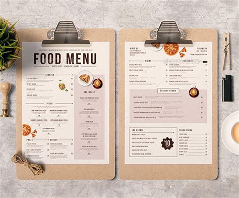 menu design ideas template 25 best restaurant bar menu template designs print