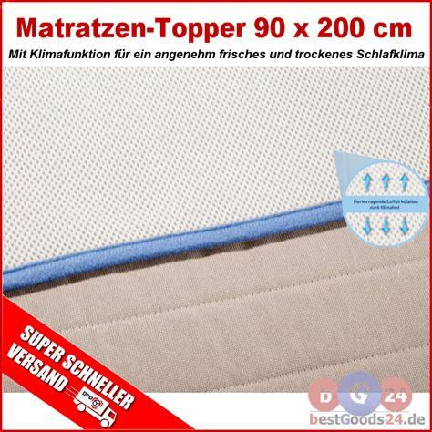 matratzen 200 x 90 günstig matratzen topper 90 x 200 cm matratzenspannauflage