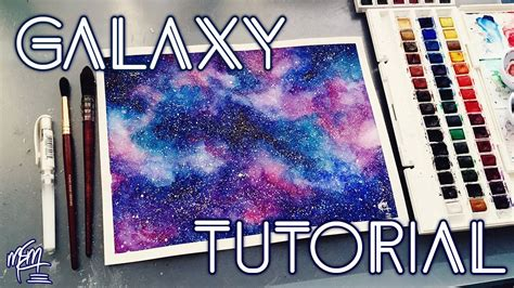 how to paint a watercolour galaxy tutorial