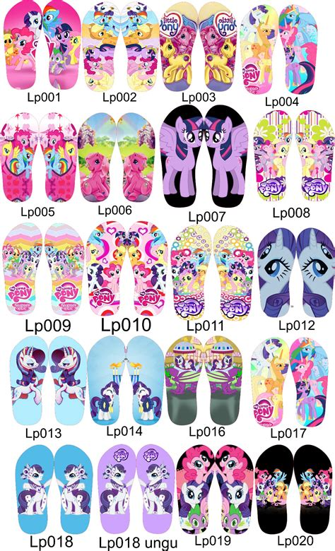 Sandal Jepit Pita Keroppihellokittydoraemon Pony foto mainan my pony mainan toys