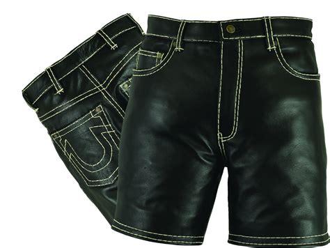 Motorrad Mit Kurzer Hose by Herren Kurze Lederhose Shorts Leder Lederbekleidung