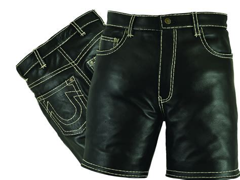 Herren Kurze Lederhose Shorts Leder Lederbekleidung Online