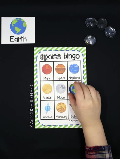 activity for outer space bingo playdough to plato