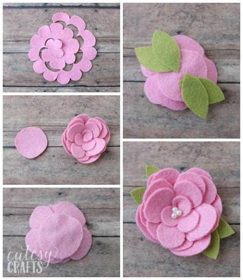 how to make flower bookmarks from felt flowers cutesy crafts