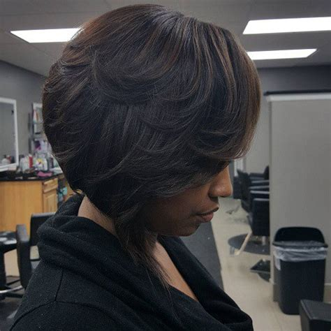 layered bob hairstyle black women hair 50 most captivating african american short hairstyles and