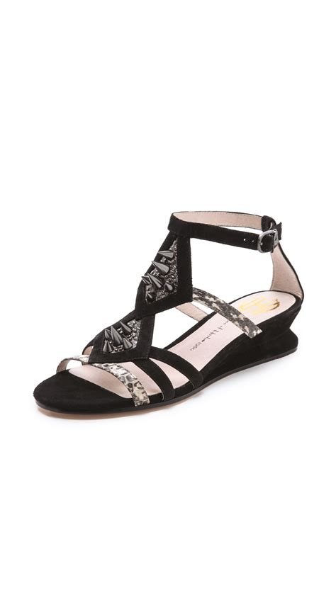 house of harlow sandals house of harlow celiney wedge sandals in black lyst