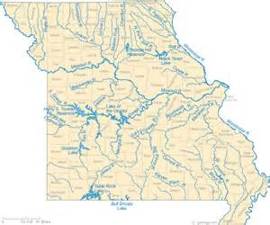 map rivers map of missouri lakes streams and rivers