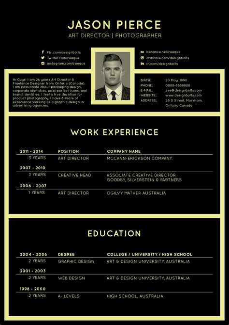 design resume template free 50 beautiful free resume cv templates in ai indesign