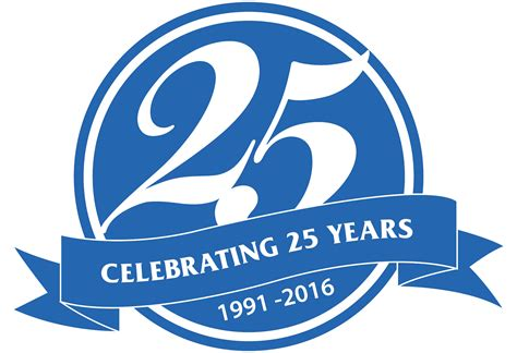 The 25 Years 25years logo crown poly inc