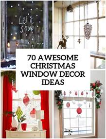 window decoration ideas home 70 awesome christmas window d 233 cor ideas digsdigs