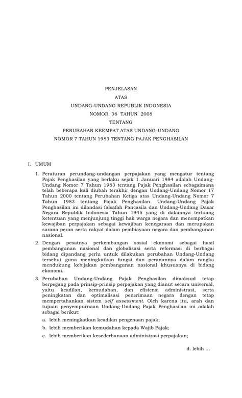 Undang Undang Republik Indonesia Tentang Pajak Penghasilan undang undang pajak penghasilan the knownledge