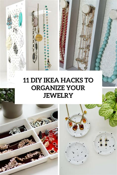 diy ikea 11 stylish diy ikea hacks to organize your jewelry