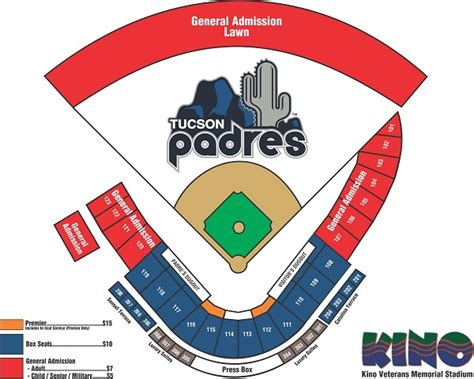 seating chart tucson padres tickets