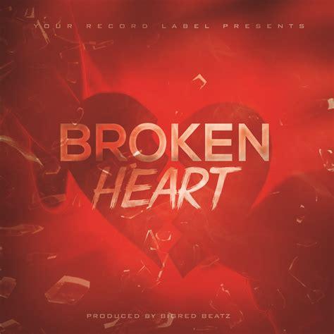 Broken Hearts Free Album Cover Template Mixtapecovers Net Free Mixtape Covers Templates