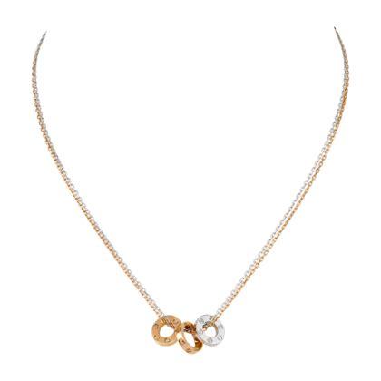 cadena de oro blanco para dama collar love oro blanco oro rosa diamantes fine
