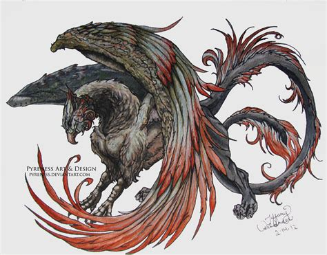 gryphon tattoo gryphon by pyreness deviantart on deviantart