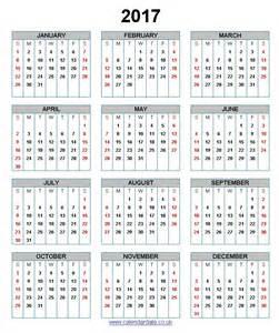 Calendar Uk 2017 Calendar Uk