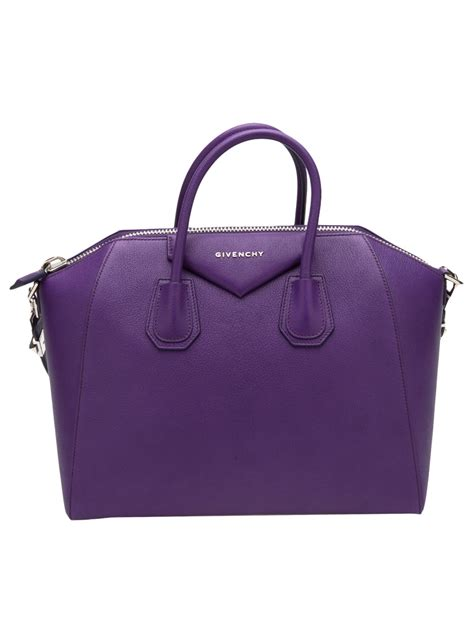 Givenchy Antigona Medium Pink lyst givenchy antigona medium bag in purple