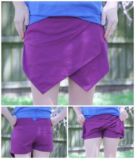 Late Origami Skort origami shorts skort by of snip sew repeat project