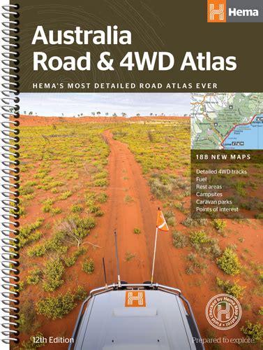0008270333 comprehensive road atlas ireland hema australia road 4wd atlas 9781876413446