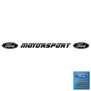 Ford Motorsport Ford Motorsport Block Sunstrip Decals Sunvisor Touring