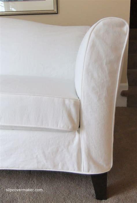 ethan allen slipcover sofa a new white denim slipcover made for a new ethan allen