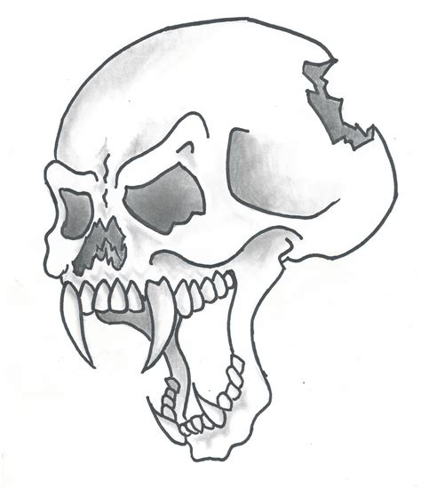 drawing pictures of skulls clipart best
