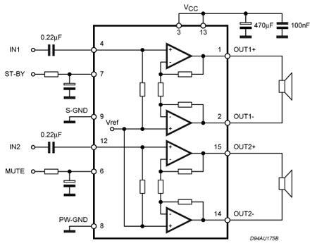 tda     dual bridge amplifier