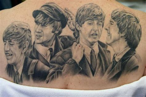 beatles tattoo beatles back by megan hoogland tattoonow
