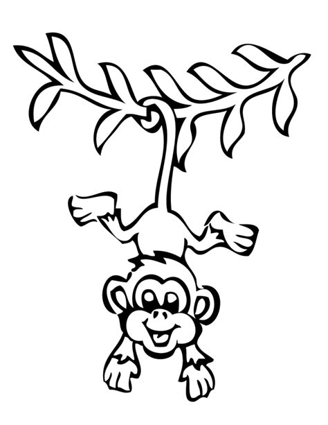coloring page monkey hanging smiling hanging monkey coloring pages kids coloring