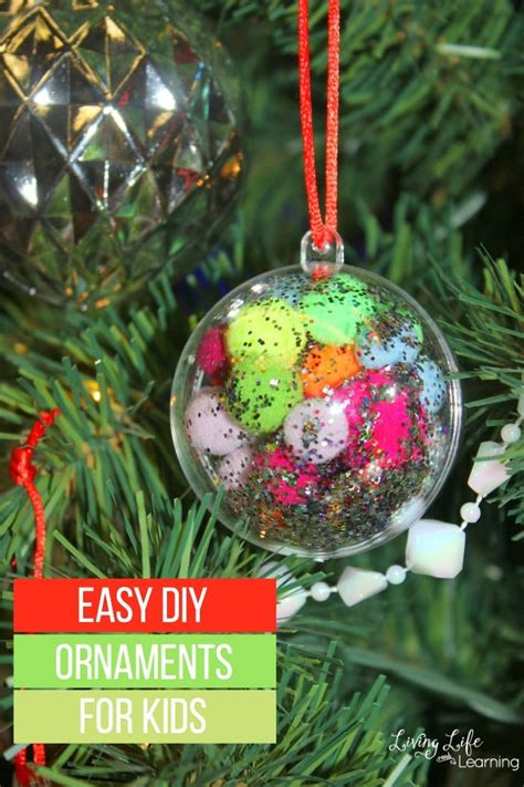 easy toddler ornaments easy diy ornaments for