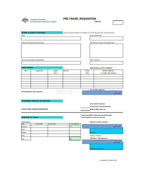 travel requisition form template 22 requisition forms in excel sle templates