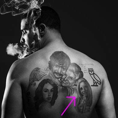 drake aaliyah tattoo mothers portrait and portrait tattoos on
