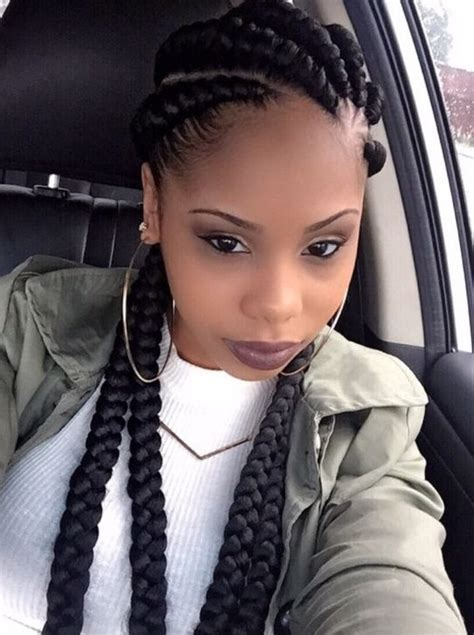 Big Braid Hairstyles by Big Cornrow Braids In New Style For 2016 2017