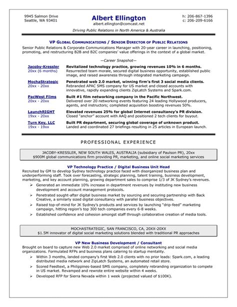 Resume Exles For Communications Director Resume Sles Exles Brightside Resumes