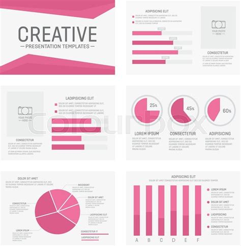 Vector Template For Multipurpose Presentation Slides With Graphs And Charts Infographic Element Slides Infographic Template