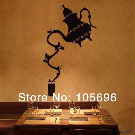 Wallpaper Sticker 33 customized fashion teapot decal wall sticker home decor islam decoration wallpaper fr36 33