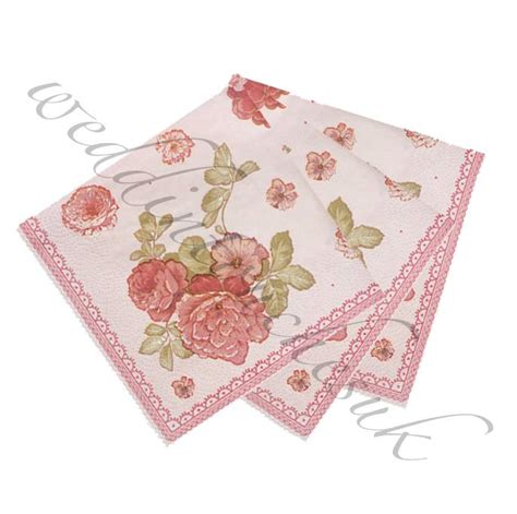 Paper Look With Tea - luxury paper napkins vintage style tea accessories
