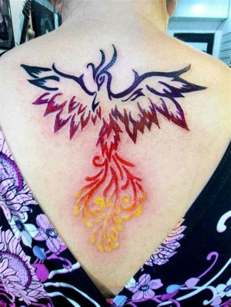 feminine phoenix tattoo designs color bird feminine tattoos