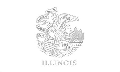 World Flags Coloring Pages 4 Illinois State Flag Coloring Page