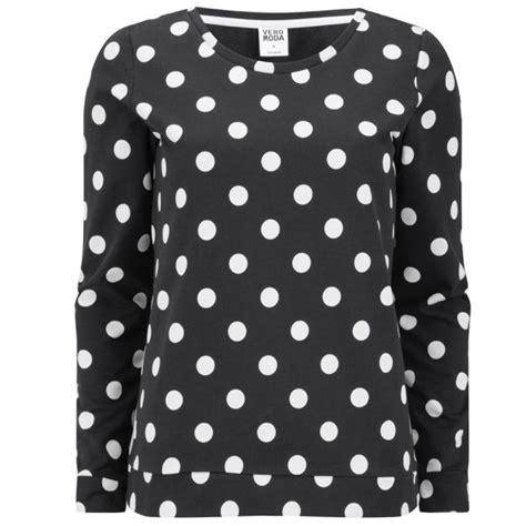 Top Polka Is vero moda doris polka dot top black womens clothing