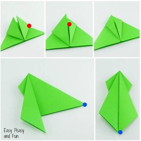 Simple Frog Origami - free coloring pages origami frogs tutorial origami for