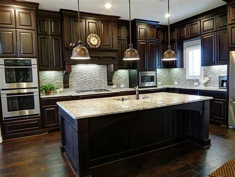 The black color you can stain paint or laminate dark wood kitchen