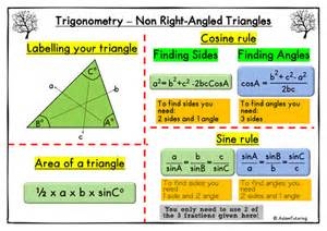 gcse maths trigonometry for non right angled triangles