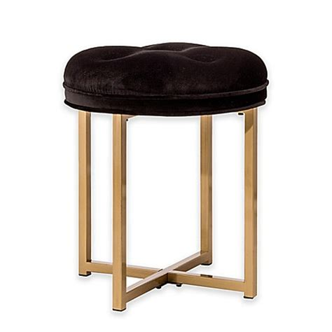 bed bath and beyond vanity stool hillsdale maura tufted vanity stool bed bath beyond